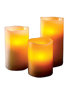 Home Accents 3pc LED Flameless Candle Set with Remote Control