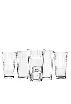 Home Accents Windowpane All Purpose 10pc. Drinkware Set