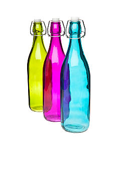 Home Accents Glass Water Bottle
