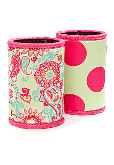 Home Accents Paisley and Dot Koozie 2-pack