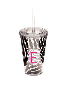 Home Accents® Zebra Monogram Tumbler 16 oz - More Letters Available