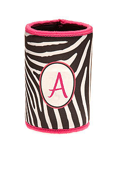 Home Accents Zebra Monogram Koozie