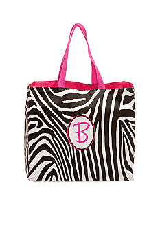 Home Accents Zebra Monogram Shopping Bag
