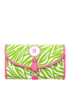 Home Accents® Monogram Green Zebra Cosmetic - More Letters Available