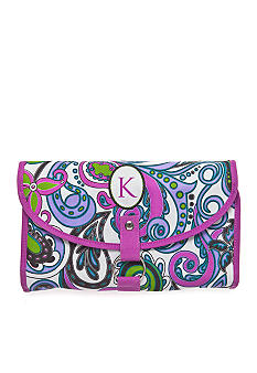Home Accents Monogram Purple Paisley Travel Cosmetic Case