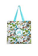 Home Accents® Monogram Bird Floral Shopper Tote