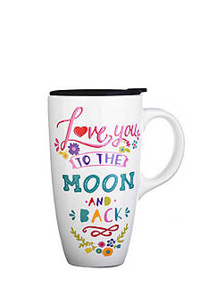 Home Accents Love to the Moon Boxed Latte Mug