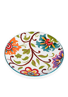 Home Accents 9-in. Round Floral Salad Plate