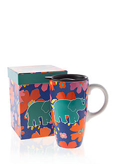 Home Accents Elephant Boxed Latte Mug