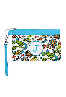 Home Accents Monogram Floral Bird Wristlet