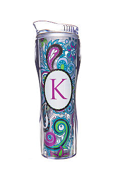 Home Accents Home Accents Monogram Purple Paisley 16-oz. Tumbler with Straw