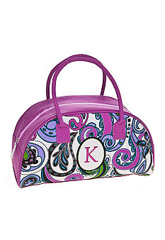 Home Accents Monogram Purple Paisley Lunch Tote