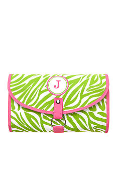 Monogram Green Zebra Cosmetic - More Letters Available