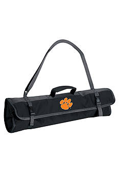 Picnic Time Clemson Tigers 4-Piece BBQ Tote