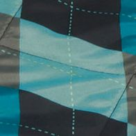 Ceramic Plates: Black Picnic Time VISTA OUTDOOR BLANKET-BLACK WITH BLUE ARGYLE