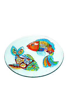 Home Accents Funky Fish Round Platter