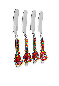 Home Accents Glass Beaded Spreader Set of 4
