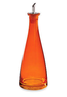 Home Accents Orange Glass Oil Bottle - Online Only