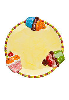 Home Accents Happy Birthday Cupcake Dessert Plate