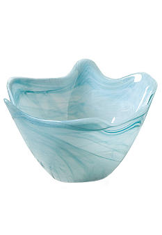 Home Accents Medium Blue Scallop Bowl - Online Only