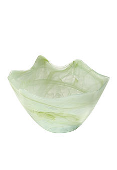 Home Accents Medium Green Scallop Bowl - Online Only