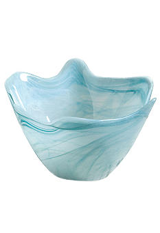 Home Accents Large Blue Scallop Bowl - Online Only