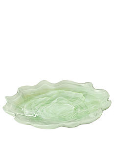 Home Accents Green Scallop Platter - Online Only