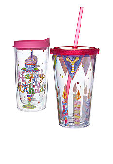 Home Accents Happy Birthday Drinkware Gift Set