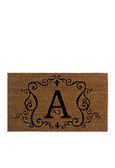 Home Accents Monogram Coir Mat