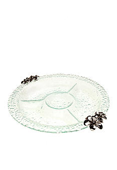 Home Accents Clear Bubble Floral Chip and Dip