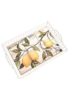 Home Accents Lemon Large Serving Tray