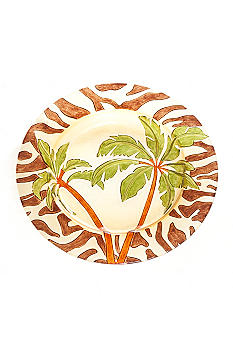 Home Accents Palm Tree and Zebra Print Platter