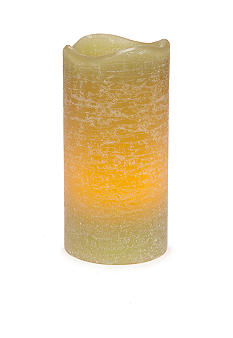 inglow 6-in. Pillar Citrus Sage Melted Flameless Candle