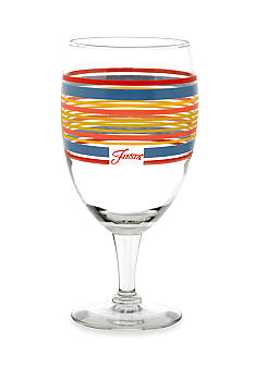 Fiesta Striped All-Purpose Goblet Glass