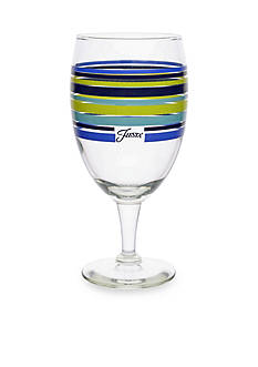 Fiesta Multi-Color Stripe Lapis Goblet