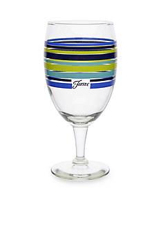 Fiesta Multi-Color Stripe Lapis Goblet