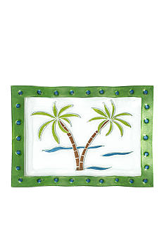 Home Accents Hand Painted Palm Tree Platter