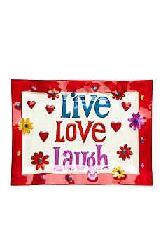 Home Accents Live, Love, Laugh Hand Painted Platter