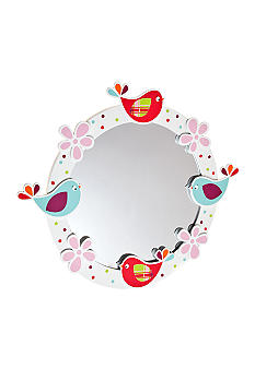 J Khaki Love Dove Decor Mirror