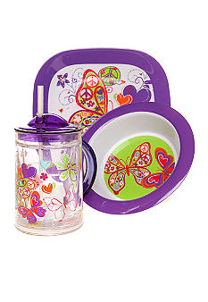 J Khaki Butterfly Kid's Dinnerware Collection