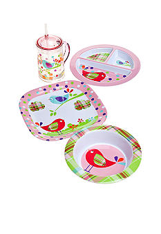 J Khaki Love Dove Kid's Dinnerware