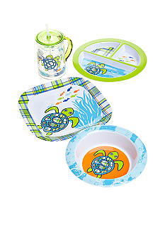 J Khaki Turtle Kid's Dinnerware Collection