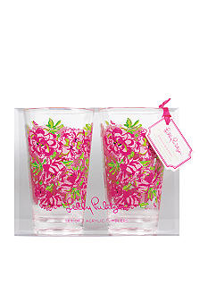 Lilly Pulitzer Acrylic Set of 2 Tumblers Lucky Charms Green