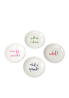 kate spade new york SALUT! Melamine Tidbit Plate Set