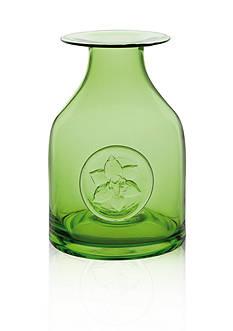 Dartington Crystal Lily Green Flower Bottle