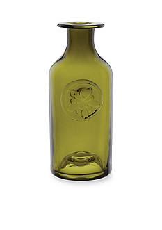Dartington Crystal Green Medium Flower Bottle