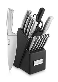 Cuisinart 15-Piece Stainless Steel Hollow Handle Cutlery Block Set