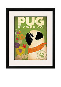 Art.com Pug Flower Co. by Stephen Fowler, Framed Art Print