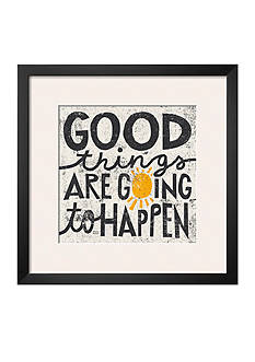 Art.com Good Things are Going to Happen, Framed Art Print