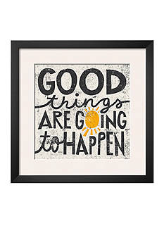 Art.com Good Things are Going to Happen Framed Art Print